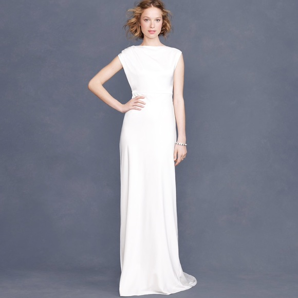 Jcrew Tricotine Corrina Vintage Wedding Dress